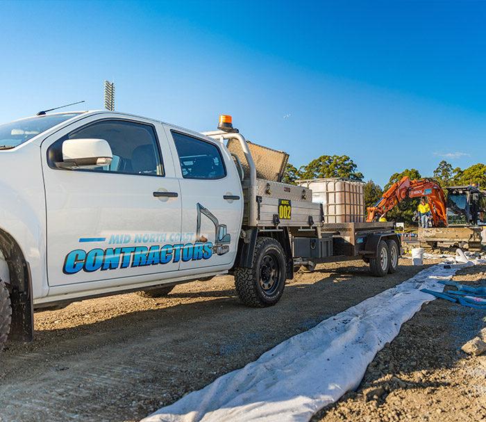 Plant Hire for Construction. Mid North Coast Contractors