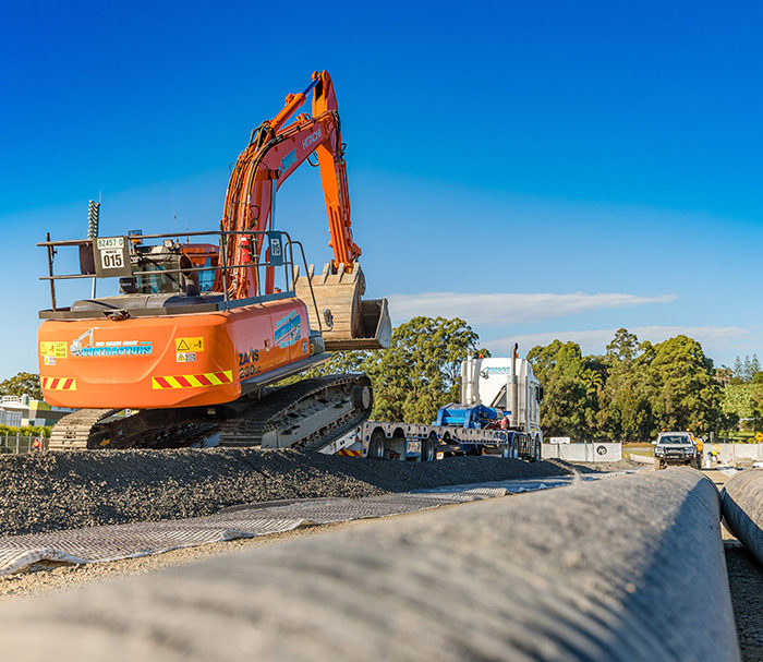 Road Work Construction. Mid North Coast Contractors